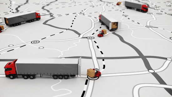 Trucks on a Map